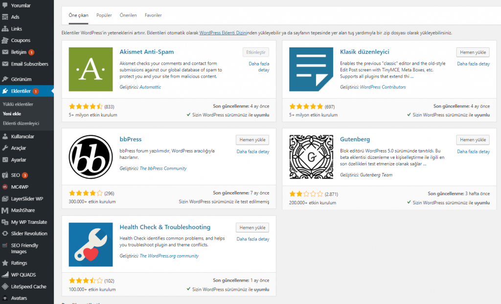 wordpress-eklenti-optimizasyonu